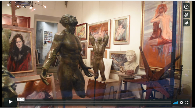Its a short showcase of artist Gabriele Mossa's work and studio in Florence. gabrielemossa.it