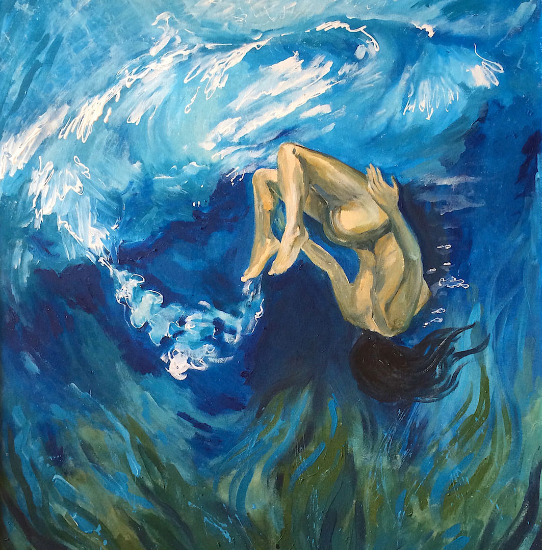 Under the water. Acrylic, canvas. 2014