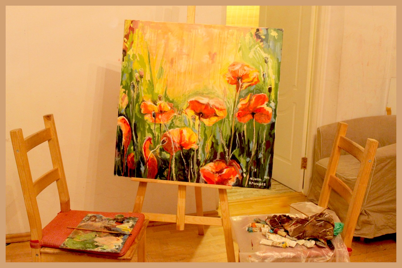 Poppies. Oil, canvas. 2011