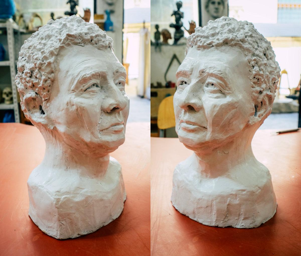 Sculpture of Andreas Fuchs-Martschitz by Milena Krawetz