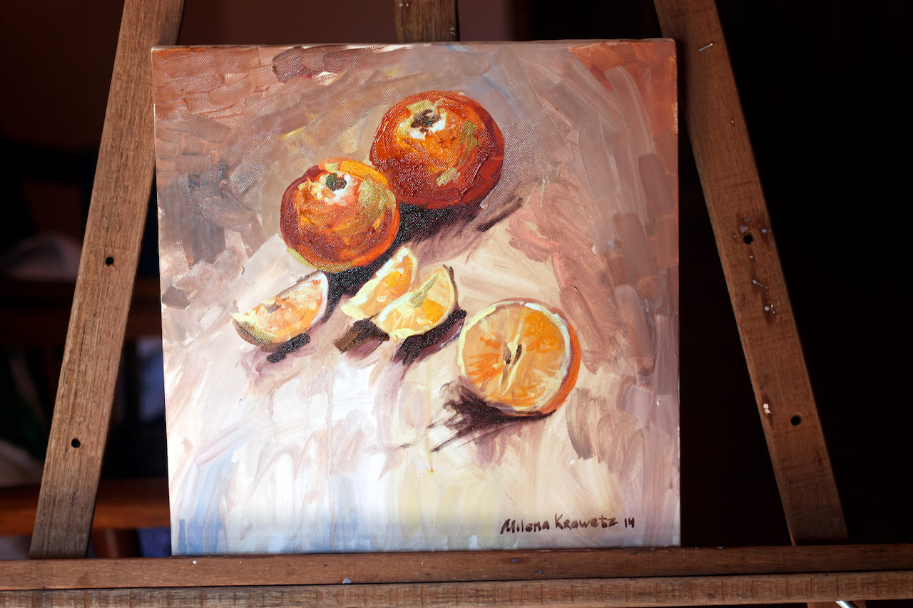 Oranges. Study. Oil, canvas 2013