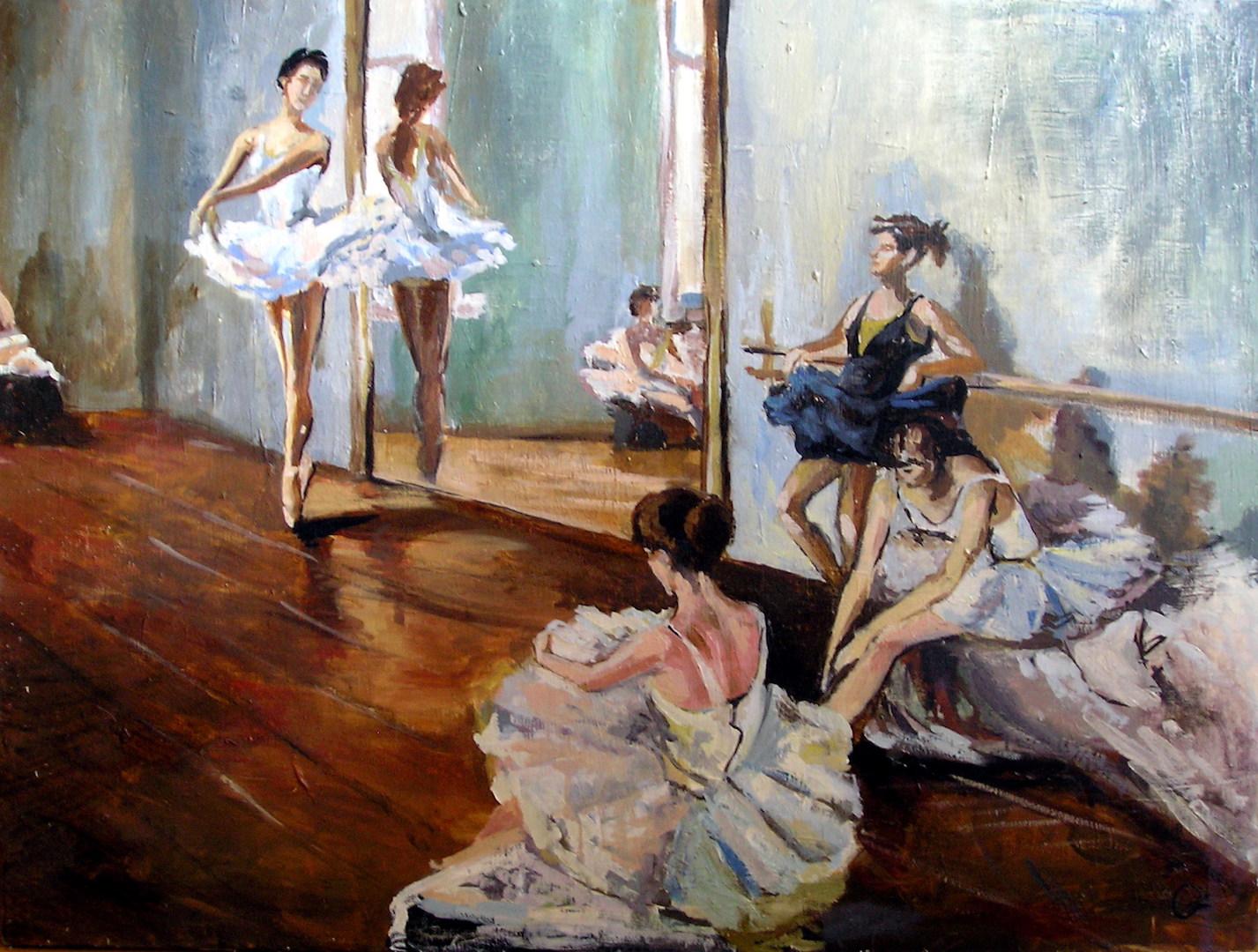 Ballet Class. Oil, canvas 2009
