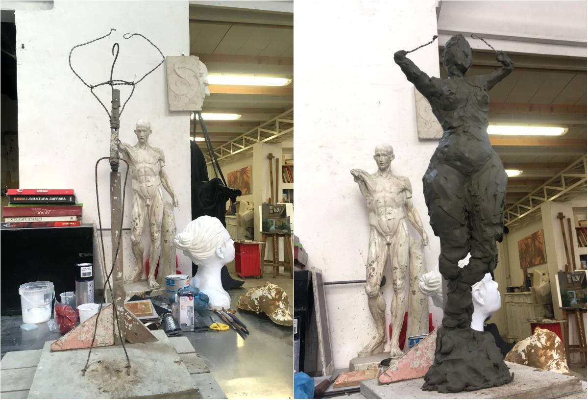 The beginning. Sculpture of Ria Rwayitare by Milena Krawetz