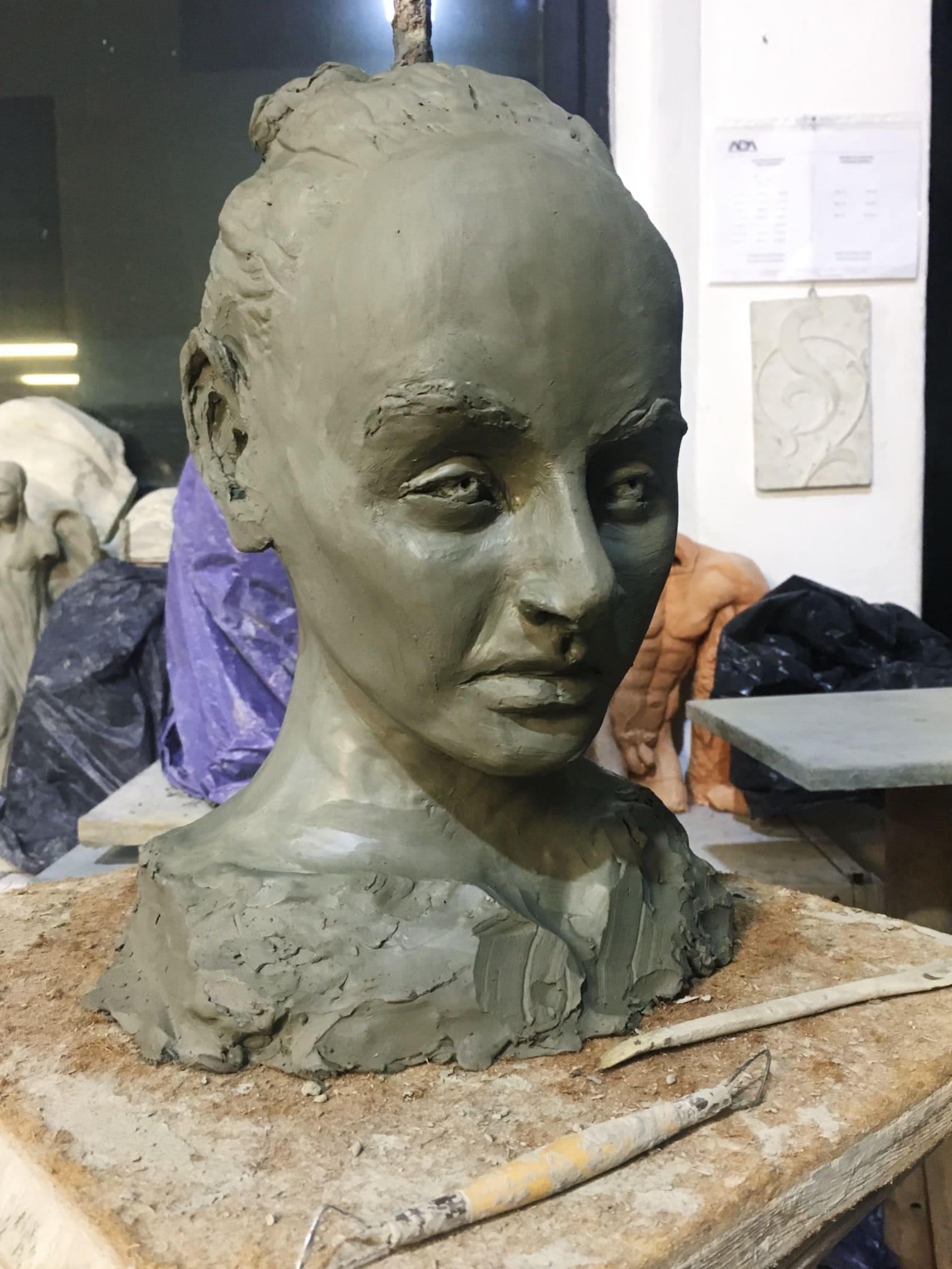 Sculpture of Coco Sean Chanel Ryder by Milena Krawetz