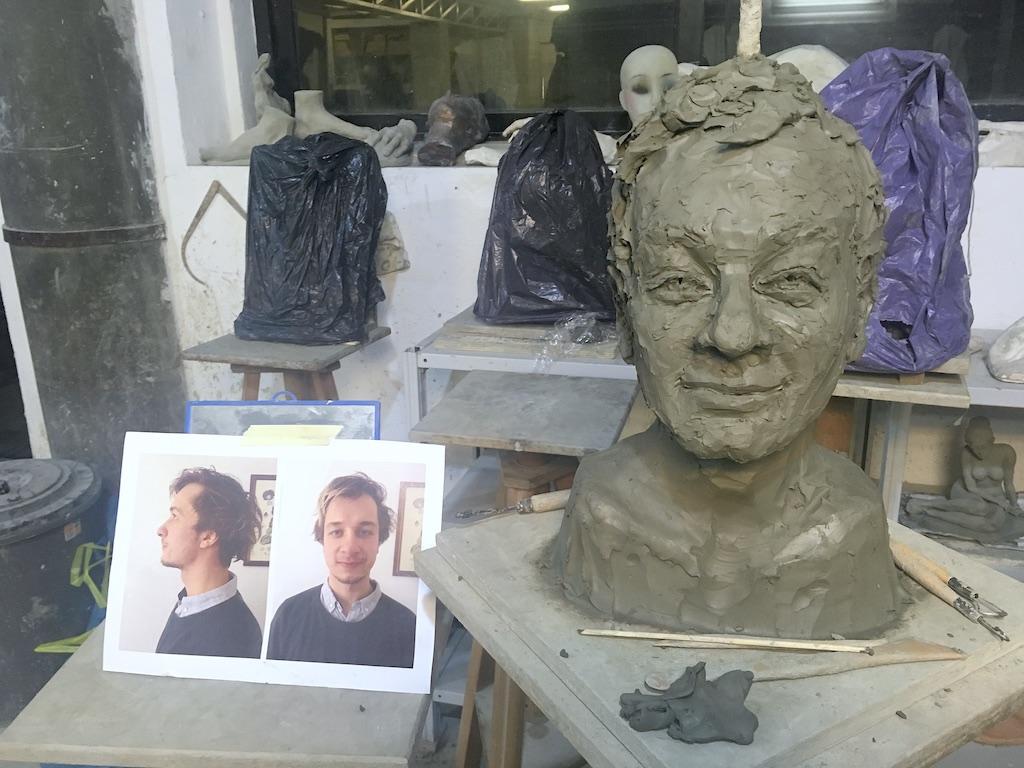 Sculpture of Artem Ilinov by Milena Krawetz