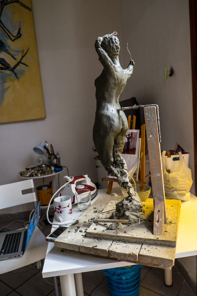 Sculpture of Ria Rwayitare by Milena Krawetz